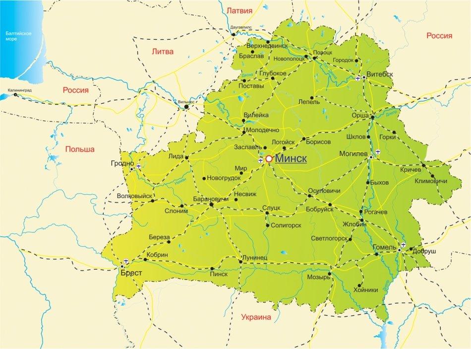 Карта Дорог Беларусь
