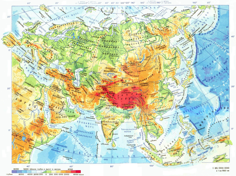 Karta Evrazii Evraziya Na Karte Mira