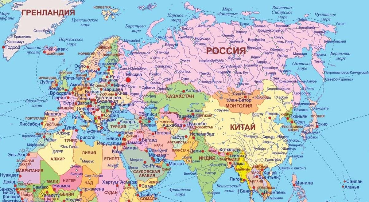 Карта России | Россия на карте мира: http://maps-of-world.ru/map-russia.htm